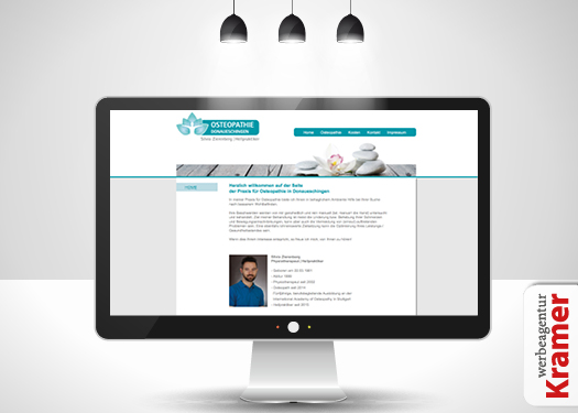 Osteopathie Physio Webseite Internet Webdesign Homepage